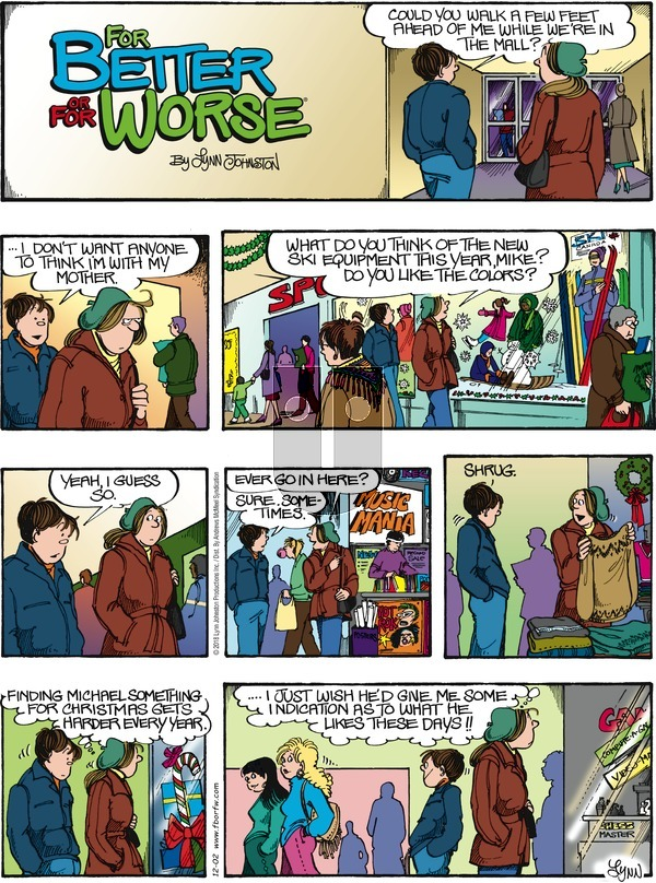 For Better or For Worse on December 2, 2018 Comic Strip