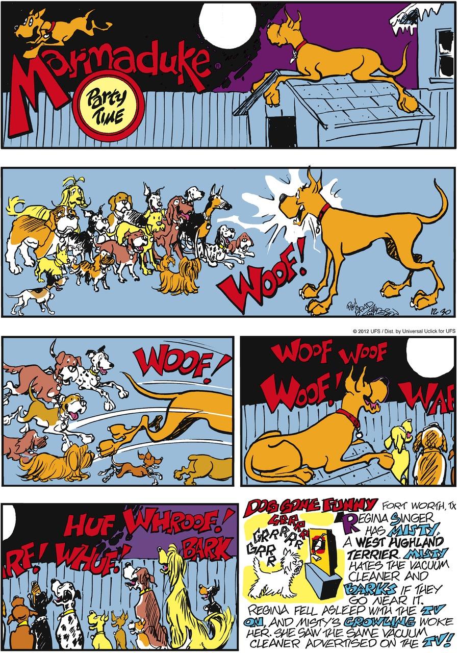 Marmaduke for Dec 30, 2012 Comic Strip