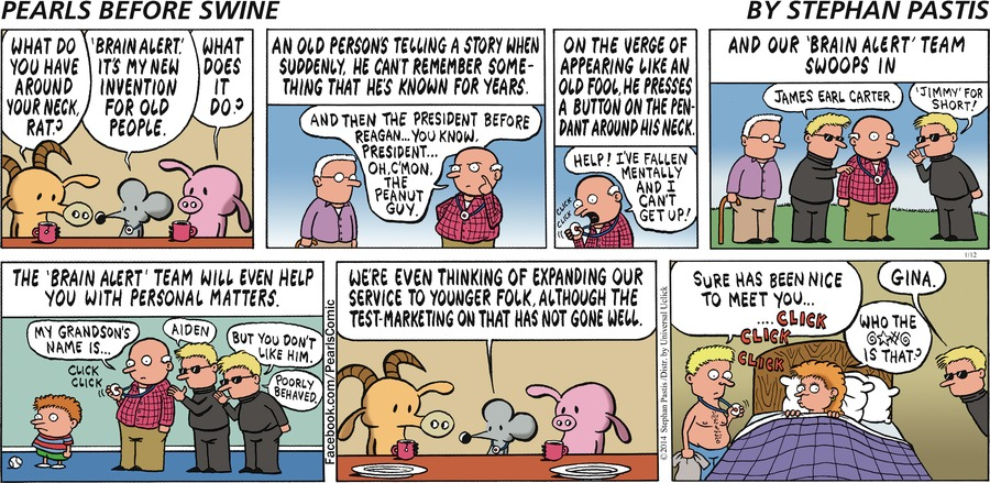 Pearls Before Swine Comic Strip for January 12, 2014