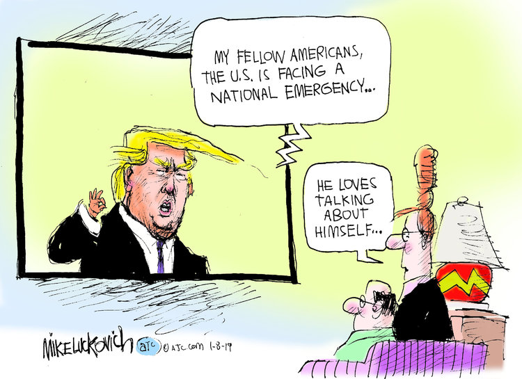 Mike Luckovich Comic Strip for January 08, 2019