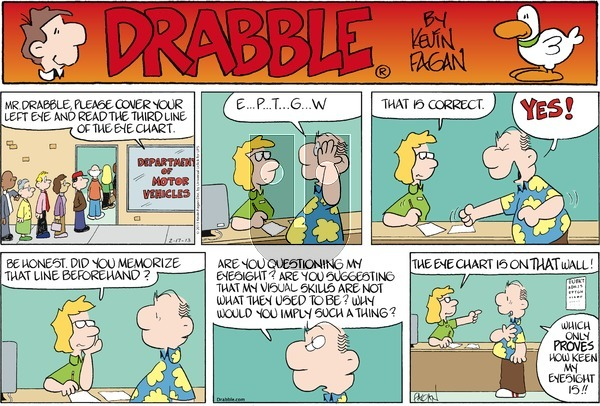 Drabble on Sunday February 17, 2013 Comic Strip
