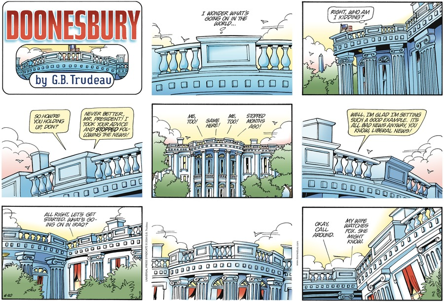 Doonesbury Comic Strip for June 20, 2004