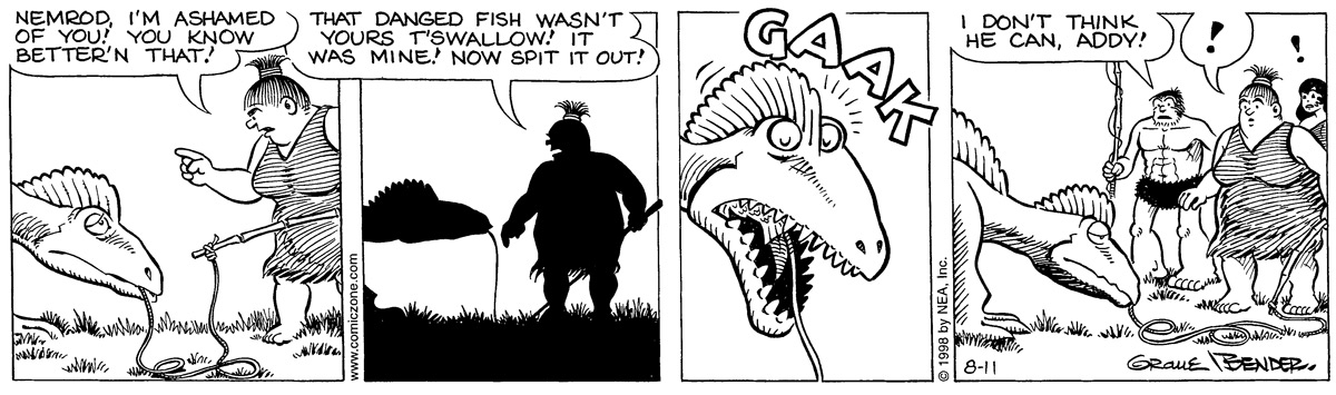 Alley Oop for Aug 11, 1998 Comic Strip