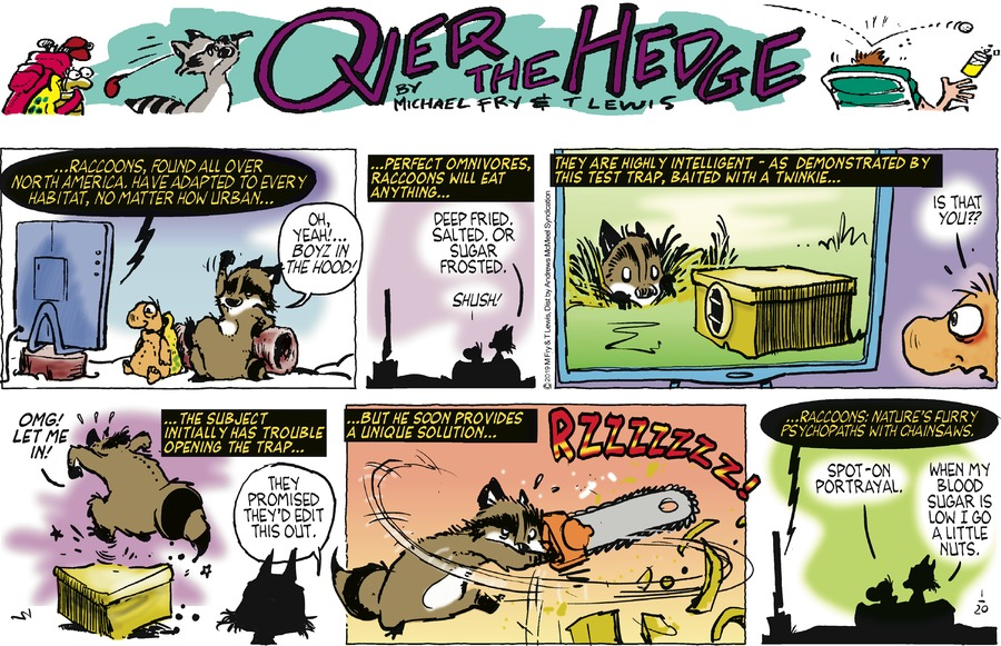 Over the Hedge Comic Strip for January 20, 2019
