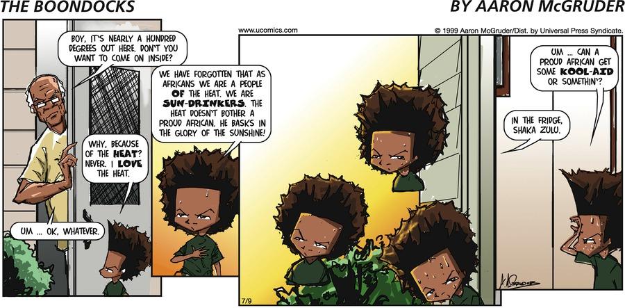 The Boondocks Comic Strip for September 19, 2021