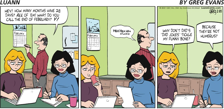 Luann Comic Strip for February 28, 2021