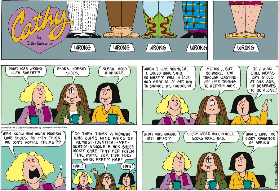 Cathy for May 19, 2002 Comic Strip