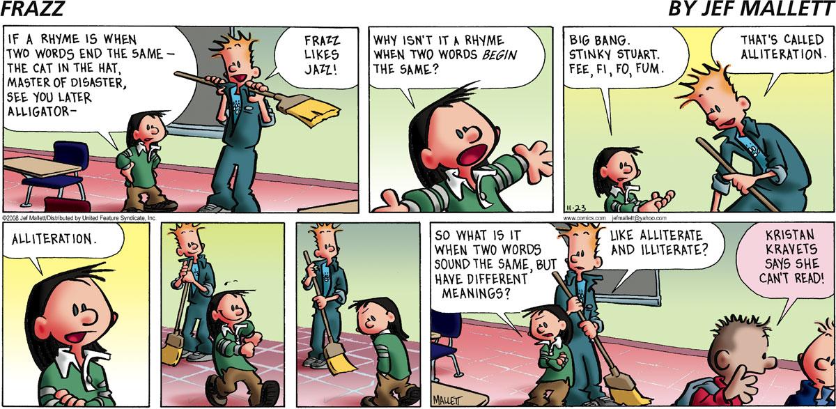 Frazz Comic Strip for November 23, 2008