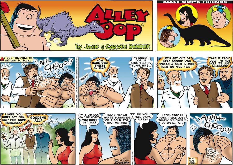 Alley Oop for Jan 7, 2018 Comic Strip