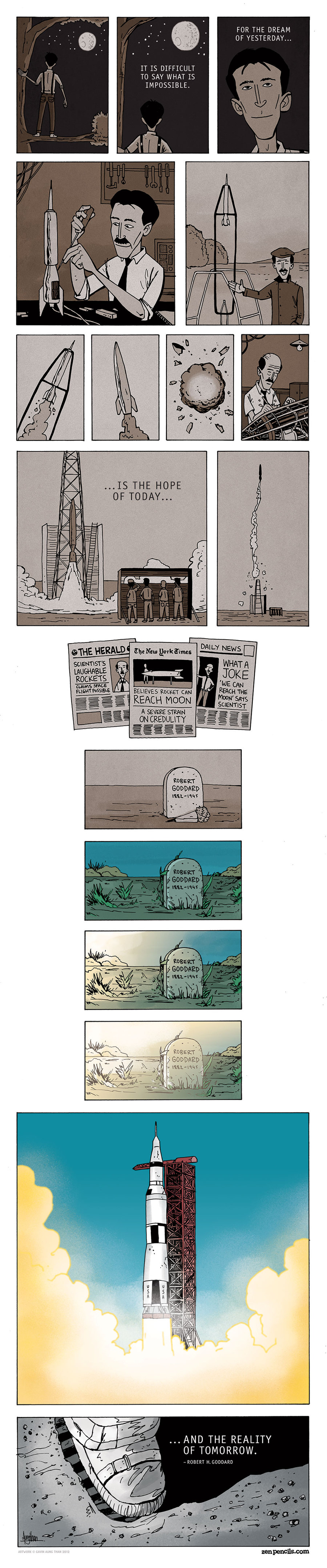 Zen Pencils for Nov 4, 2013 Comic Strip