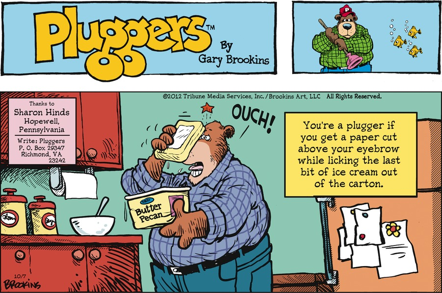 Pluggers for Oct 7, 2012 Comic Strip