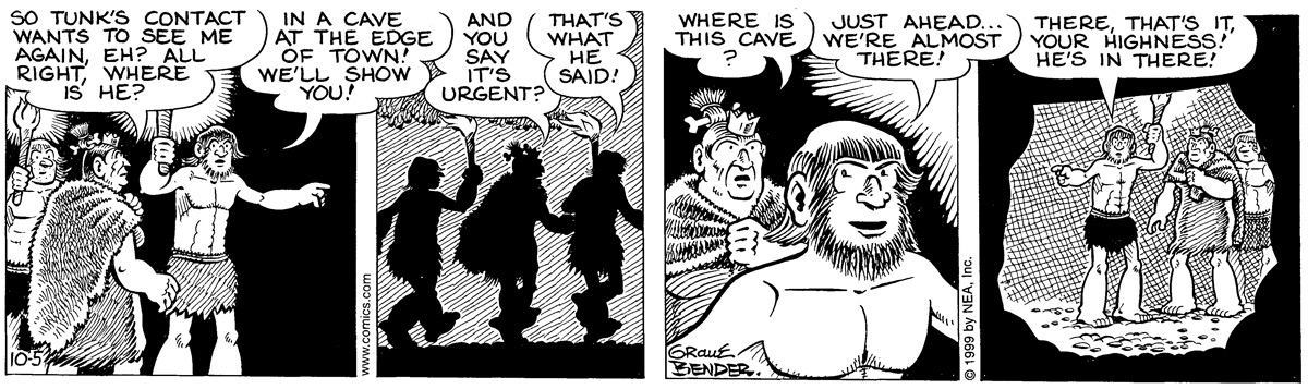 Alley Oop for Oct 5, 1999 Comic Strip