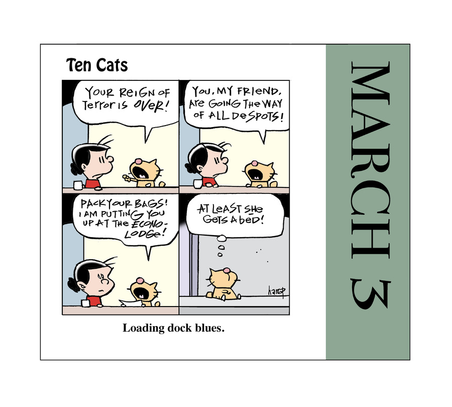 Ten Cats Comic Strip for March 03, 2021
