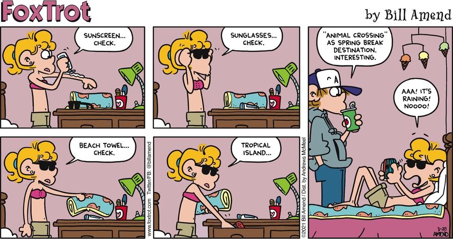 FoxTrot Comic Strip for March 28, 2021