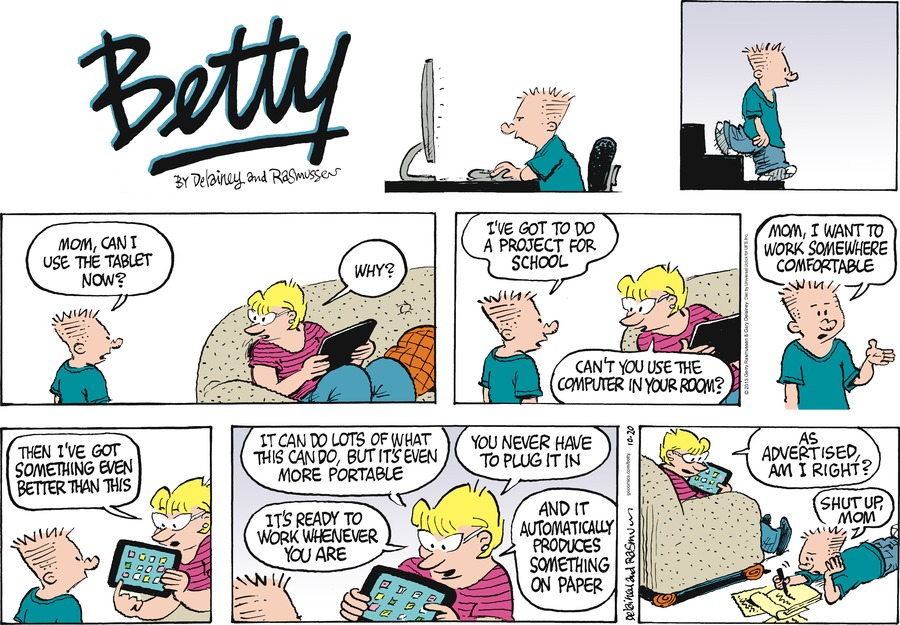 Betty for Oct 20, 2013 Comic Strip
