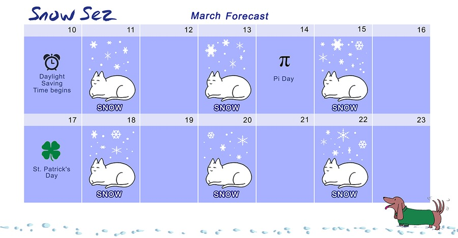 Snow Sez by T. Shepherd for March 10, 2019