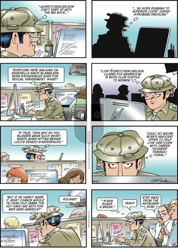 Doonesbury on Sunday August 7, 2016 Comic Strip