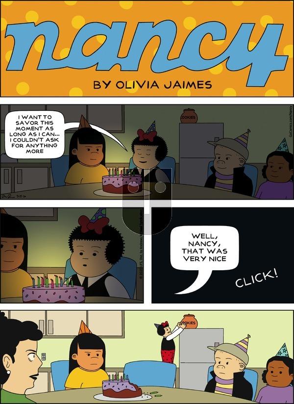 Nancy on Sunday March 15, 2020 Comic Strip