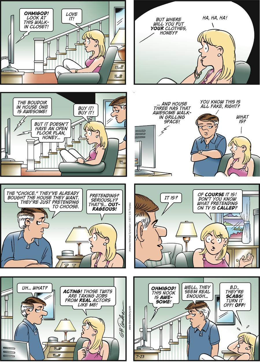 Doonesbury for Jul 23, 2017 Comic Strip