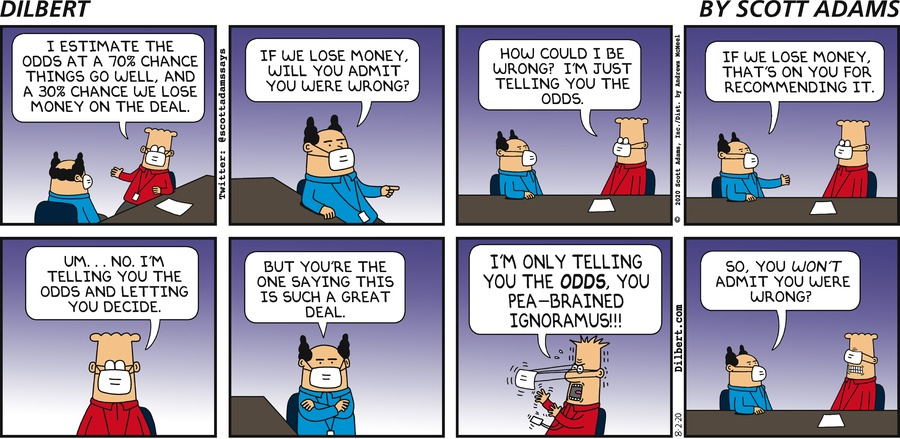 Dilbert Tells The Odds - Dilbert by Scott Adams