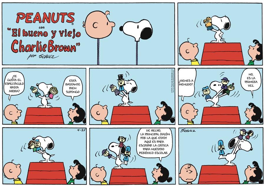 Snoopy en Español by Charles Schulz on Sun, 25 Apr 2021