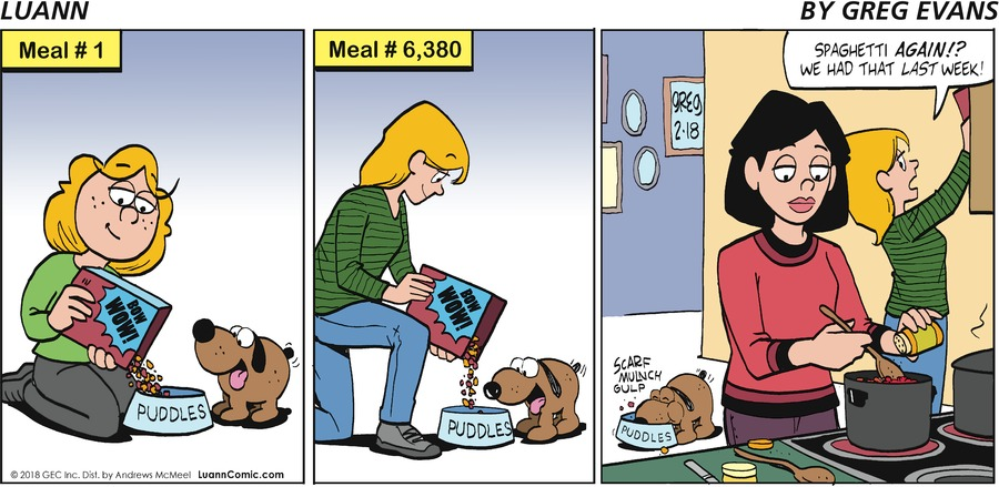 Luann for Feb 18, 2018 Comic Strip