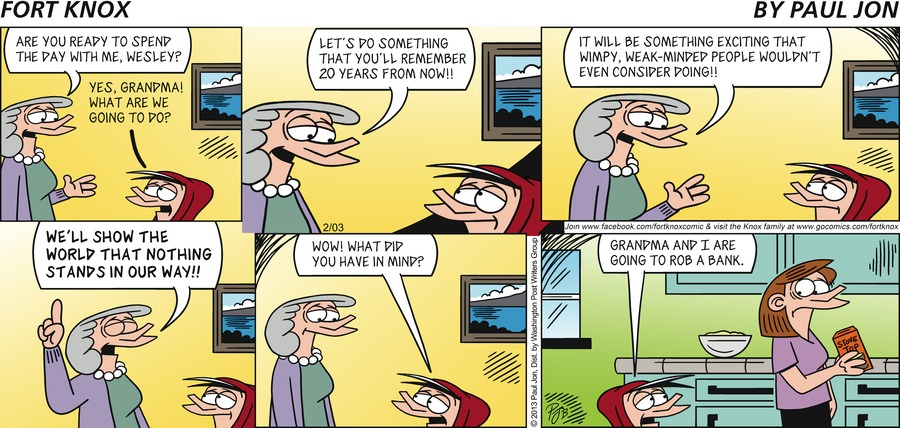 Fort Knox for Feb 3, 2013 Comic Strip