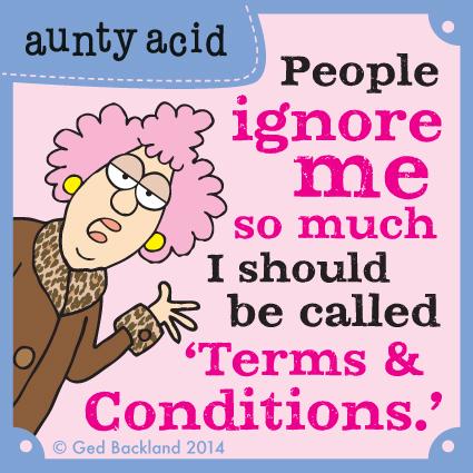 Aunty Acid for Jul 30, 2014 Comic Strip