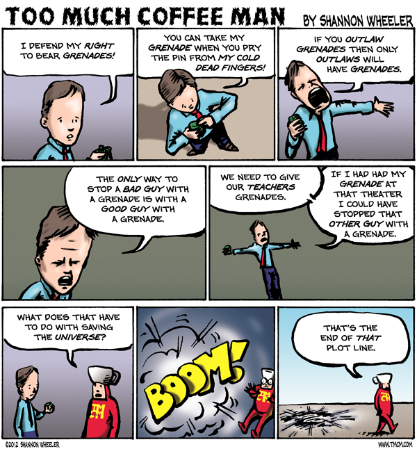 Too Much Coffee Man