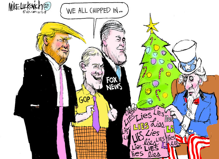 Mike Luckovich Comic Strip for December 15, 2019