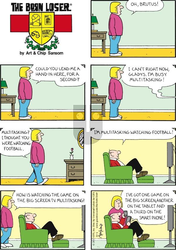 The Born Loser on Sunday November 1, 2015 Comic Strip