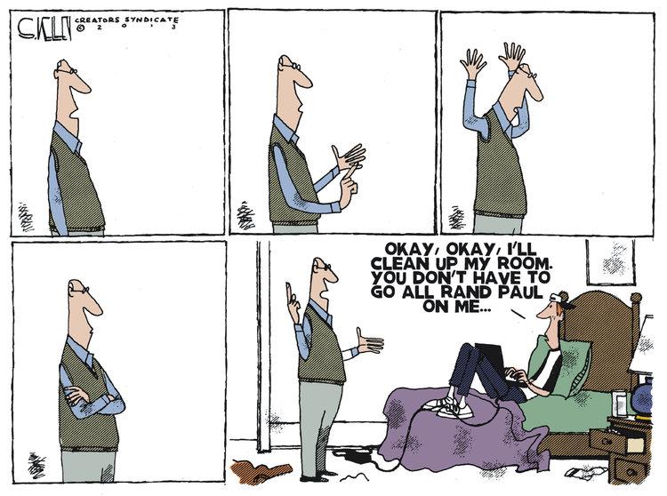 Steve Kelley for Mar 9, 2013 Comic Strip