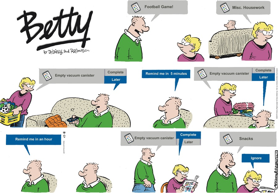 Betty Comic Strip for December 08, 2019