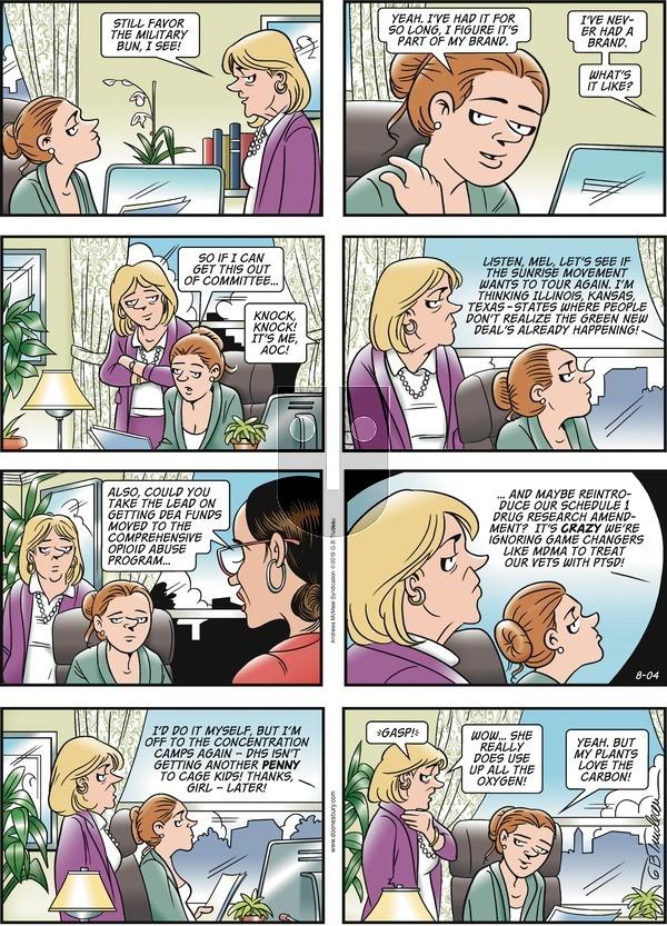 Doonesbury on Sunday August 4, 2019 Comic Strip