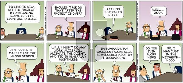 Dilbert on Sunday February 4, 2007 Comic Strip