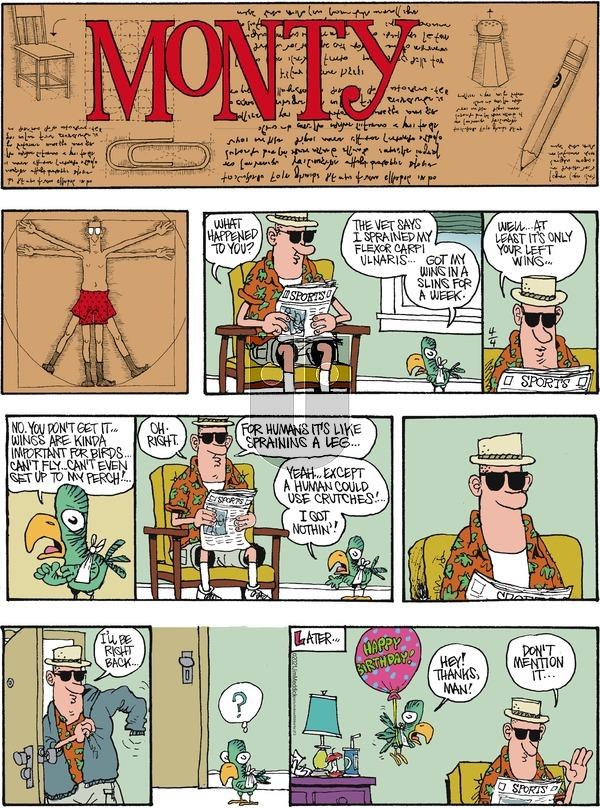 Monty on Sunday April 4, 2021 Comic Strip