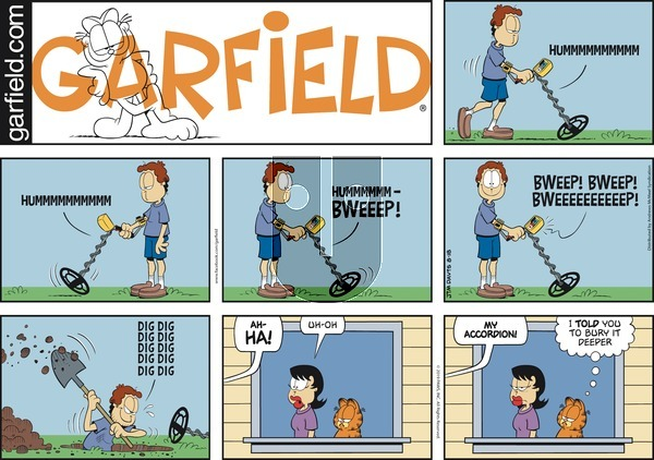 Garfield on Sunday August 18, 2019 Comic Strip