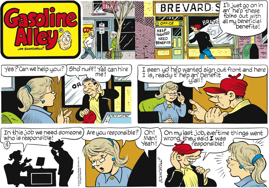 Gasoline Alley for Mar 17, 2013 Comic Strip