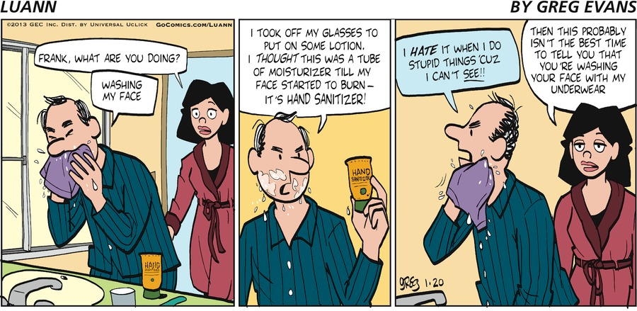 Luann Comic Strip for January 20, 2013