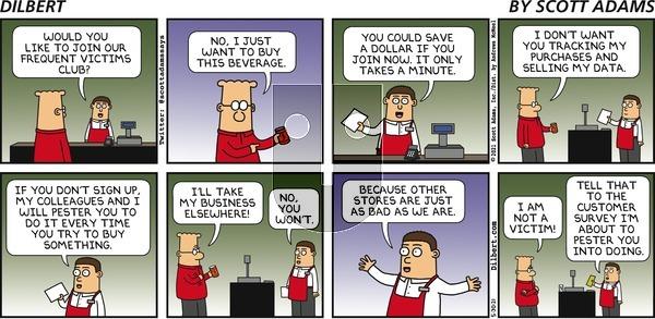 Dilbert - Sunday May 30, 2021 Comic Strip
