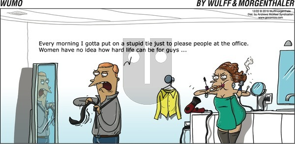 WuMo on Sunday December 22, 2019 Comic Strip