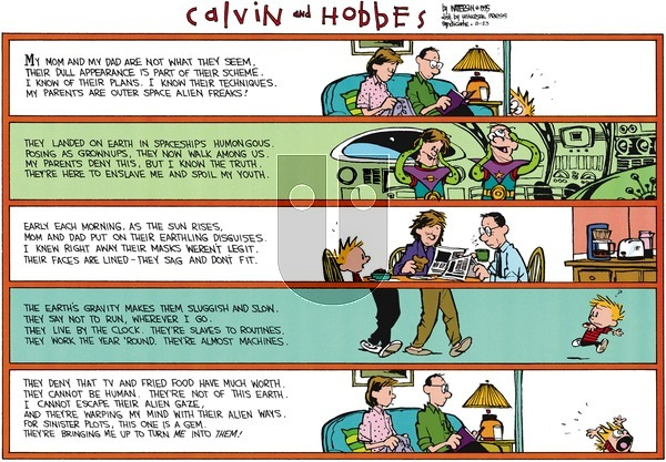 Calvin and Hobbes on Sunday August 23, 2015 Comic Strip