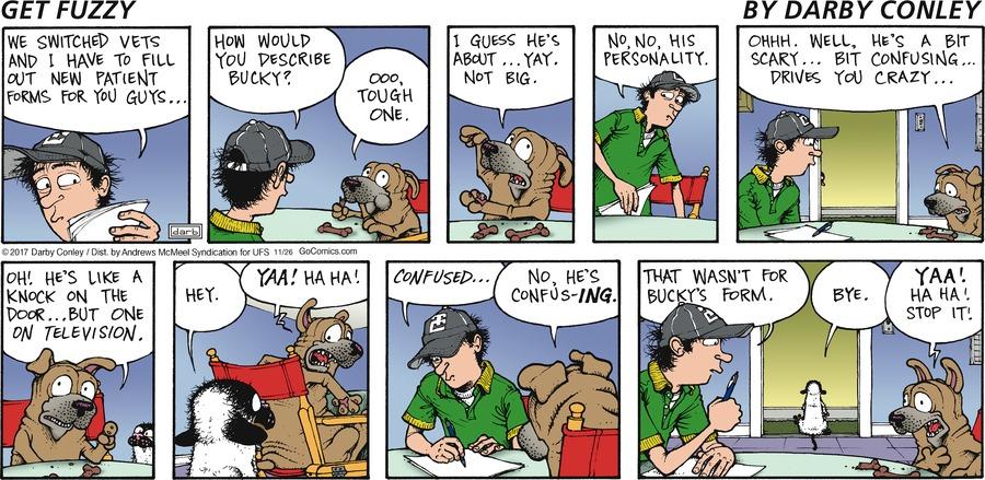 Get Fuzzy Comic Strip for November 26, 2017