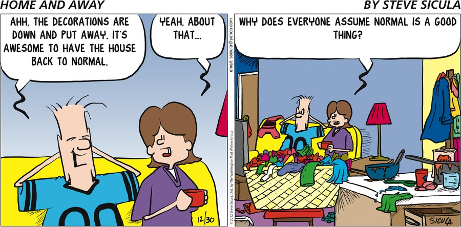 Home and Away for Dec 30, 2012 Comic Strip