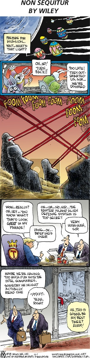Non Sequitur on Sunday April 1, 2018 Comic Strip