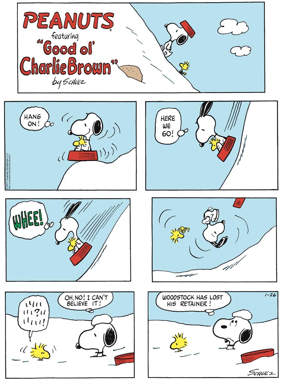 Peanuts Comic Strip for January 26, 2020