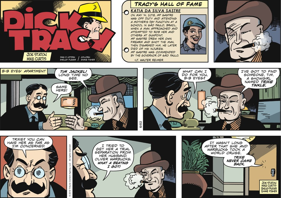 Dick Tracy Comic Strip for June 02, 2019