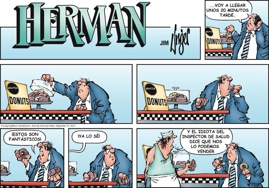 Herman en Español by Jim Unger for Sep 21, 2014