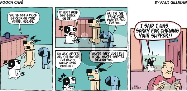 Pooch Cafe - Sunday August 28, 2016 Comic Strip