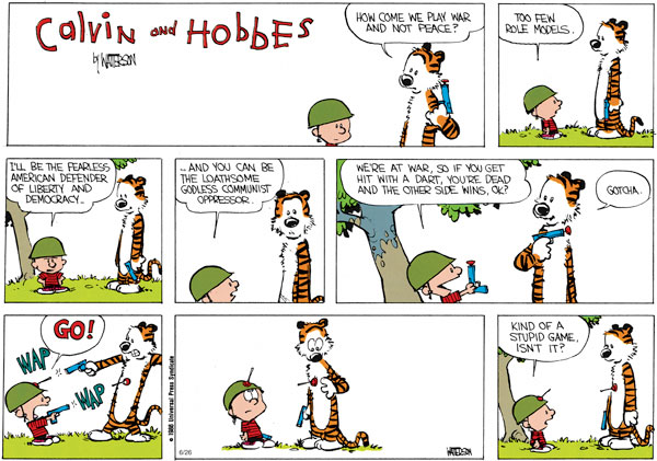 Calvin and Hobbes Comic Strip for June 26, 2011
